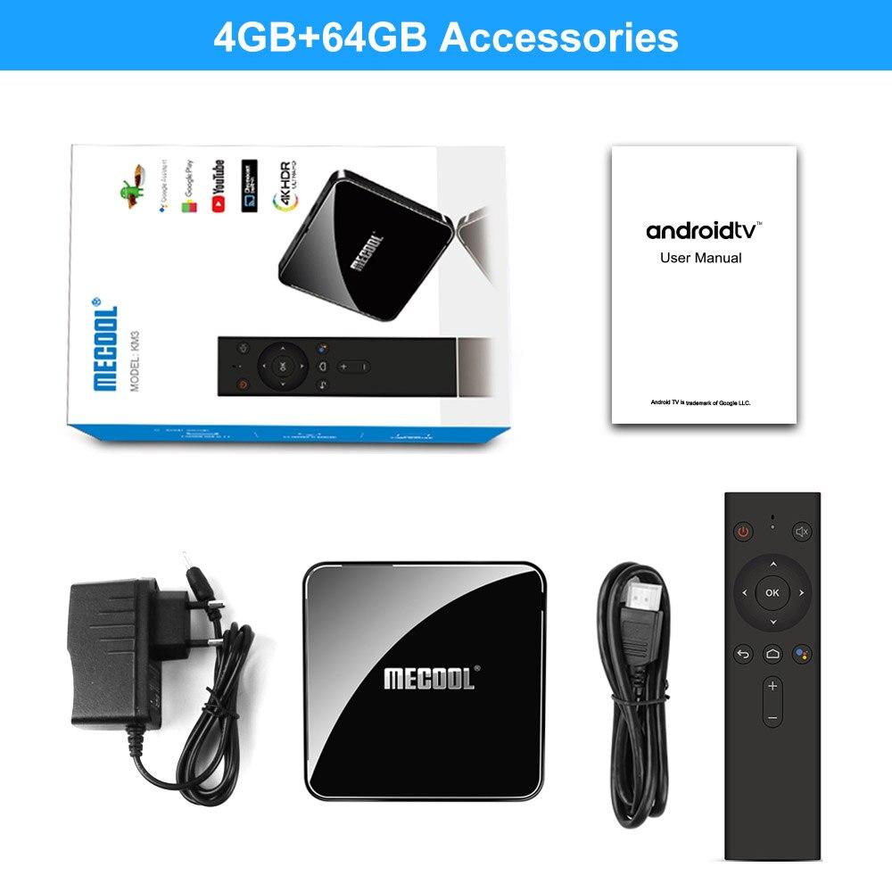Mecool KM3 ATV 4G 64G 128G Android 9,0 Google certificado Androidtv Amlogic S905X2 4K doble Wifi caja de TV inteligente KM9 Pro 2/16G 4/32G - 6