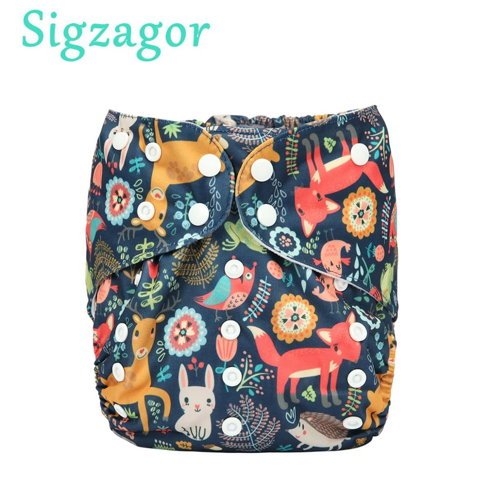 Diaper Nappy Pocket Sigzagor Microfleece Inner Washable Toddler Baby Kids One-Size Junior