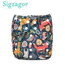[Sigzagor] большие тканевые подгузники для детей от 2 до 7 лет, подгузники, один размер, многоразовые моющиеся, внутренняя часть из микрофлиса, для малышей