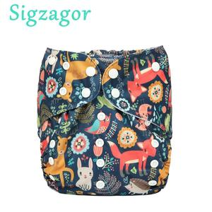 [Sigzagor]2 to 7 years old Big Cloth Diaper,Nappy,Pocket One Size,Reusable Washable,Microfleece Inner,Baby Kids Toddler Junior(China)