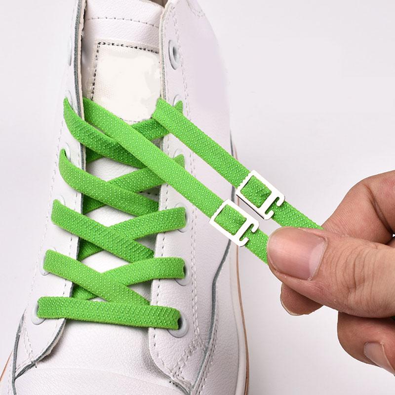 Arrow Pattern Buckle Stretch No Tie Lazy Shoelaces Tightly Shoelaces 1 Pair Kids Adult Unisex Sneakers Shoelace Elastic Strings