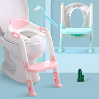 Baby Potty Training Seat 2 Colors Children Potty Baby Toilet Seat With Adjustable Ladder Infant Toilet Training Folding Seat N30
