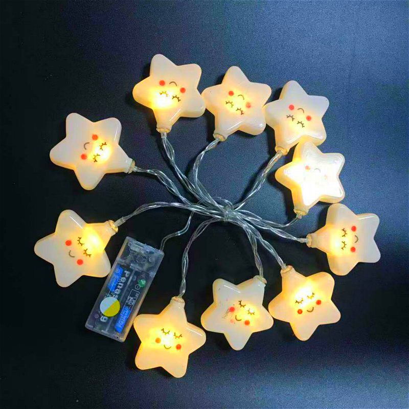 1.5M Led Christmas String Lights Star Strings Ball Battery Home Night Lights For Baby Wedding String Lights Christmas Decoration