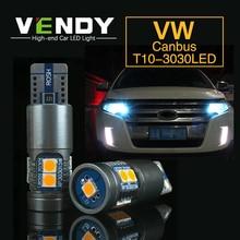 цена на 1pcs Car LED Clearance Light Canbus W5W T10 Bulb For VW passat b6 b5 b7 mk3 touran golf 4 5 6 7 polo tiguan t5 touareg jetta mk6