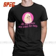 Trixie Mattel Jokes Rupaul's Drag Race T-Shirts Men Miss Vanjie Casual Cotton Tees Short Sleeve T Shirts 4XL 5XL Clothes
