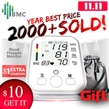BMC Homeuse Health Care Digital Lcd Upper Arm Blood Pressure Monitor Heart Beat Automatic Meter Machine