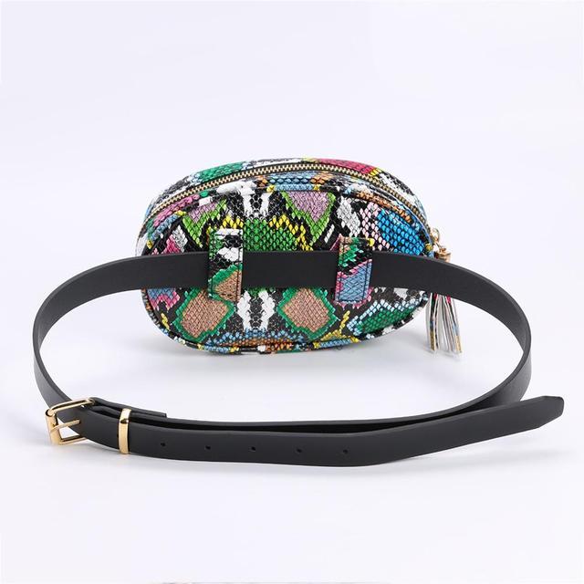 Colorful Zipper Belt Bag  1