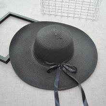 Sprzedaż hurtowa gorąca sprzedaży moda lato podróży popularne jednolity kolor kobiet kapelusz przeciwsłoneczny na plażę składany wakacje na plaży słomkowy kapelusz duży kapelusz tanie tanio Dla dorosłych COTTON Poliester Rayon Akrylowe Skórzane Faux leather Słomy Linen Rafia WOMEN brimmed hat Na co dzień