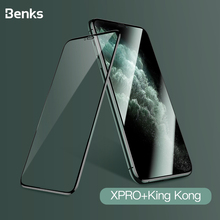 Benks xpro 3D 湾曲縁スクリーンプロテクターガラス 0.3 ミリメートル 11 プロマックス xr x xs フルカバー保護強化ガラスフィルム