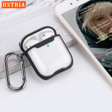 Hard-Case Airpod Transparent Headset 2-Cover Luxury USTRIA for Apple Earphone Clear-Box