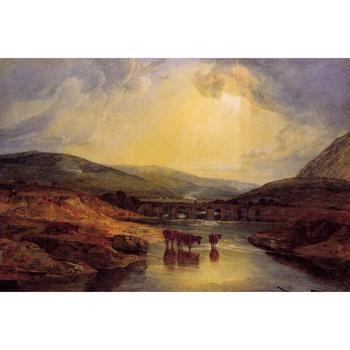 10 pinturas de arte Hecho A Mano de profesores-Abergavenny Bridge Monmountshire después...
