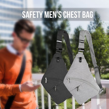 Men Anti-theft Safety Chest Bag Tactical Gun Bag Holster Male Front Cross Body Sling Bag Pocket Storage Shoulder Backpack(China)