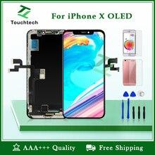 Высокое качество AAA+++ для iPhone X OLED экран Замена Pantalla OEM ЖК-дисплей с 3D сенсорный дигитайзер сборка без битых пикселей