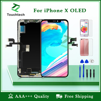 Jakość AAA + + + dla iPhone X XR XS ekran OLED wymiana Pantalla wyświetlacz LCD z 3D dotykowy Digitizer zgromadzenie nie martwy piksel tanie i dobre opinie NONE CN (pochodzenie) Ekran pojemnościowy 2560x1440 3 Touchtech LCD i ekran dotykowy Digitizer Black tested one by one