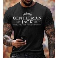 Camiseta con estampado de letras para hombre, ropa informal a la moda, novedad de verano, camiseta de gran tamaño con cuello redondo