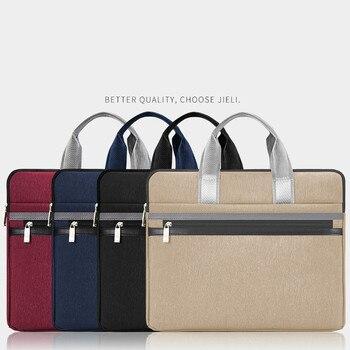 Datei Ordner Carpetas Laptop Fall A4 Große Kapazität Handtasche Informationen Tasche Zipper Weibliche Männer Leinwand Mode Einfache Business