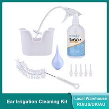 Ear Irrigation Washing Kit Ear Wax Cleaning Tool Ear Wax Removal Set Ear Cleaning With Squeeze Bulb/Syringe/Brush For Adults Kid
