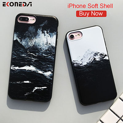EKONEDA-Black-TPU-Case-For-iPhone-6-6S-Plus-Case-Silicone-Sea-Wave-Himalaya-Mountain-Cover-400