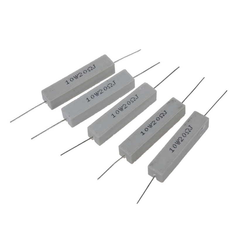 5x 10W 20 Ohm 5% Wirewound Ceramic Cement Resistor 10 Watt