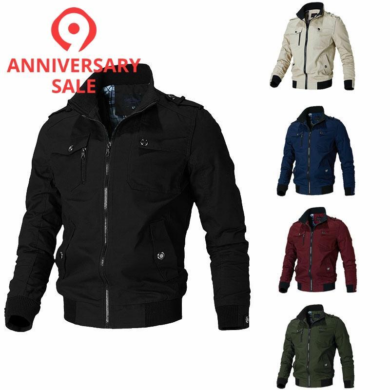 New Casual Men Jackets Spring Autumn Windbreaker Jacket Men Army  Military Jacket Mens Coats Casacos Masculino 5XL JK101army military  jacketautumn mens jacketmilitary jacket