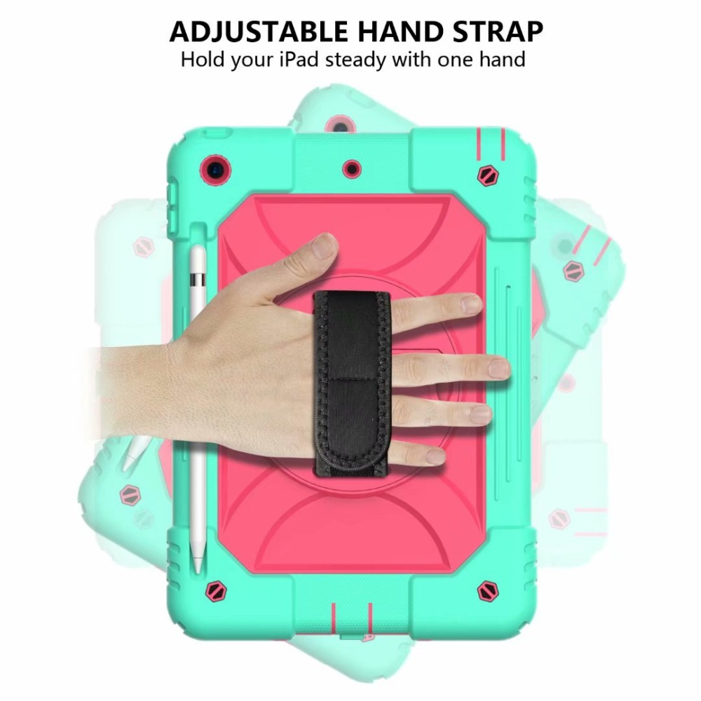 Case Holder iPad Hand Pencil iPad Stand 360 Rotating Generation 7th Strap For For Cover