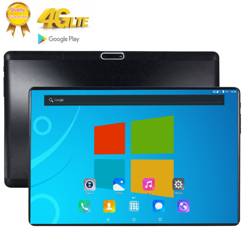 Free Shipping 10.1 Inch Tablet Deca 10 Core 6GB RAM 128GB ROM 8MP WIFI 3G 4G FDD LTE Unlock 1920X1200 IPS GPS Android 9.0 Tablet
