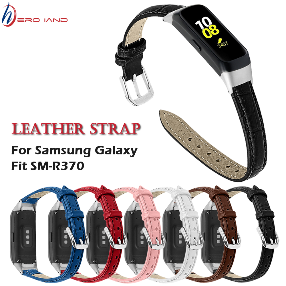 New Leather Strap For Samsung Galaxy Fit SM-R370 Watchbands Bracelet Fit For SM-R370 Smart Watch Strap Belt