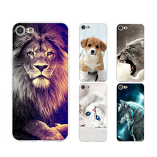 Animals Transparent Cute Phone Case Coque For iPhone xr 7 8 6 6S Plus x XS MAX 5 5S Soft TPU Phone Cover For iPhone 8 7 Plus цена 2017