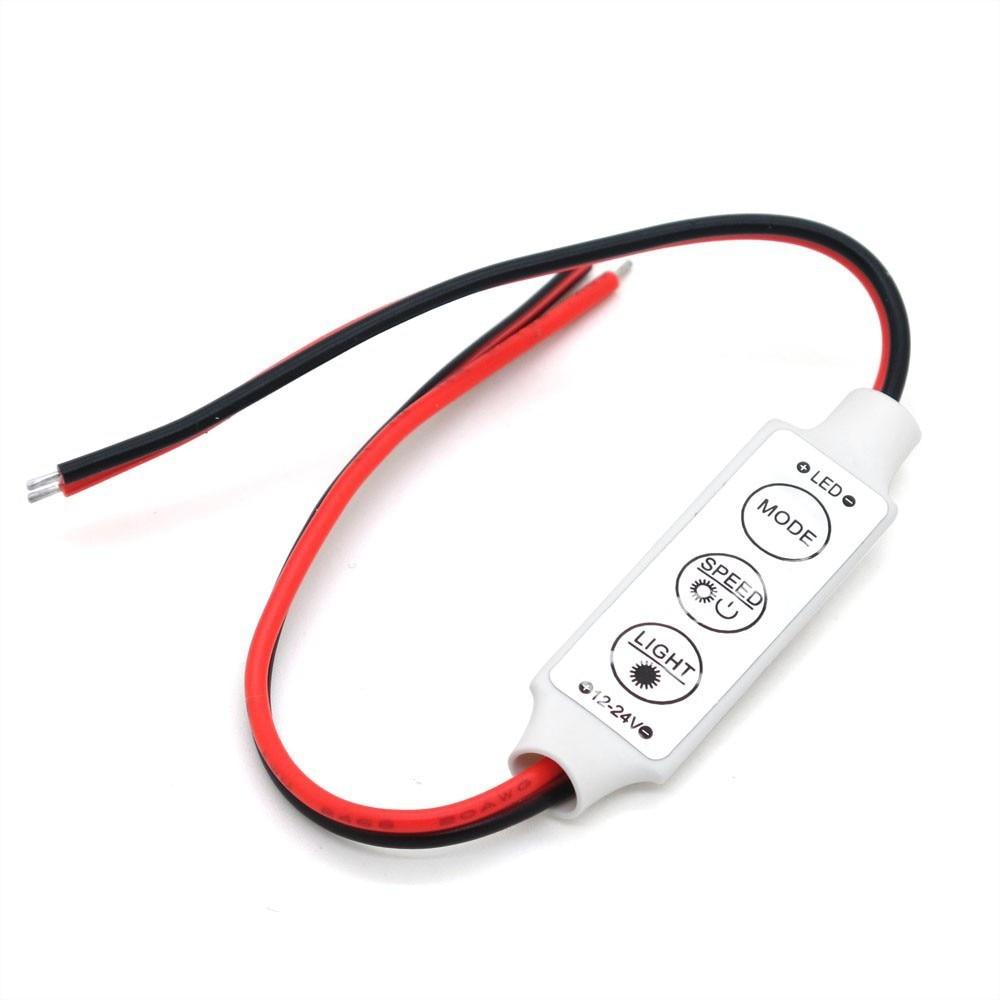LED Triple Bond Monochrome Mini Controller Auto Parts Motorcycle Accessories Strobe Monochrome Lamp Controller Monochrome Dimmer