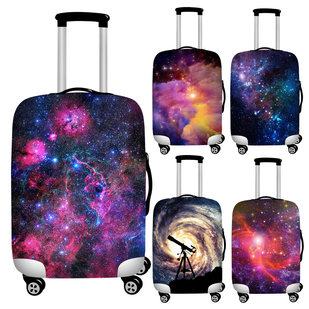 Nopersonality 18-32 Inch Galaxy Star Suitcase Elastic Case Covers Anti-dirty Travel Luggage Protection Cover Trolley Dust Cover