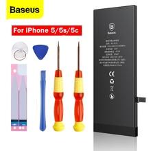 цена на Baseus Mobile Phone Battery For iPhone 5s 5 s 5c Original Batterie Real Capacity 1560mAh 1440mAh Replacement Bateria For iPhone5