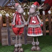 47 см выдвижной Рождественский Санта-Клаус/снеговик куклы стоящая Статуэтка Navidad Рождественская елка украшения Детские Рождественские подарки игрушка