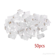 50 Pcs/Pack Stranded 10P10C Network Cable Connector RJ48 Crystal Plug Modular  O10 20 Dropshpping