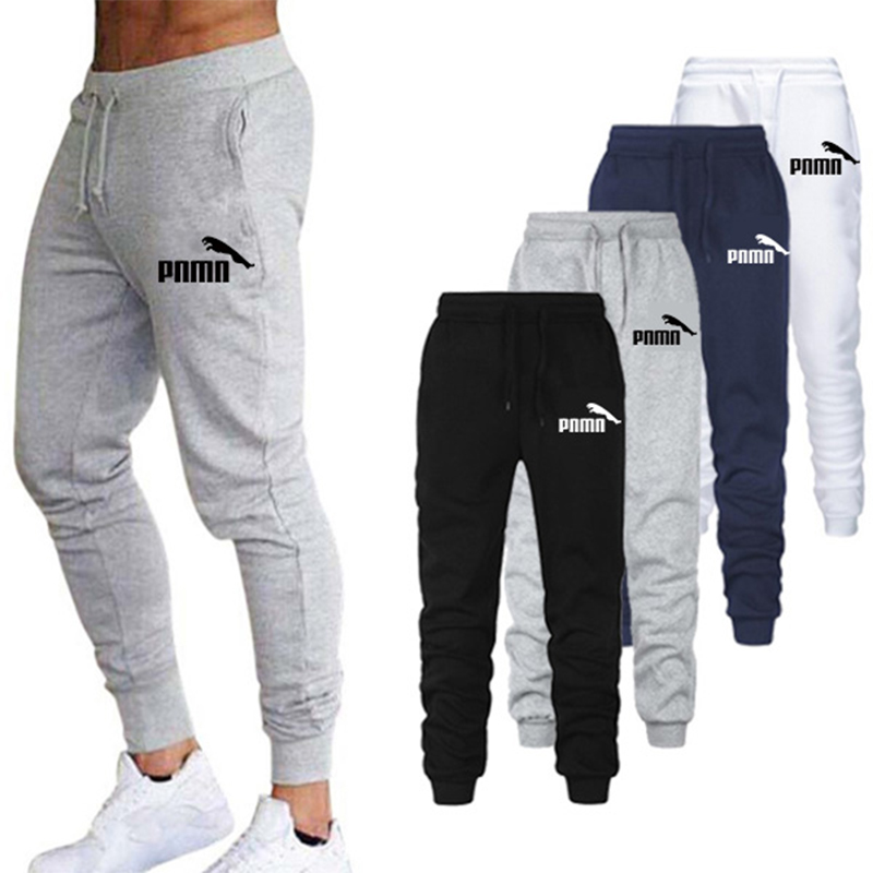 2020 Casual Pants Men Trousers Sweatpants Elastic Waist Pantalones Hombre Fitness Sweatpants Black White Joggers Pants Plus Size
