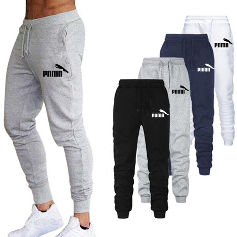 2020 Casual Pants Men Trousers Sweatpants Elastic Waist Pantalones Hombre Fitness Sweatpants Black White Joggers Pants Plus Size