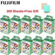 Белая пленка Fujifilm Instax Mini 10-200 листов для FUJI Instant Photo camera Mini 9 Mini 8 7s 70 90+ Бесплатный чехол для фотоальбома