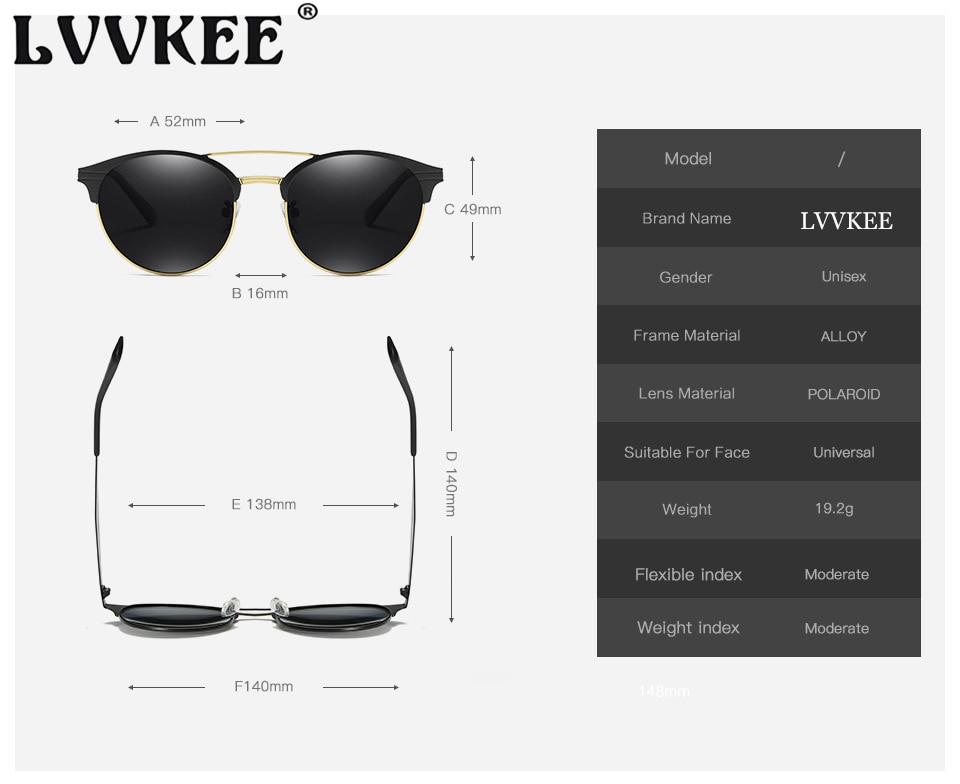 LVVKEE 2018 NY Luksus HD Polariserte klassiske solbriller Kvinner / - Klær tilbehør - Bilde 6