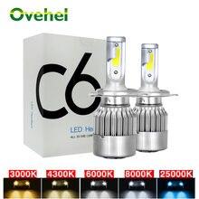 Светодиодные лампы головного света ovehel c6 светодиодный h3