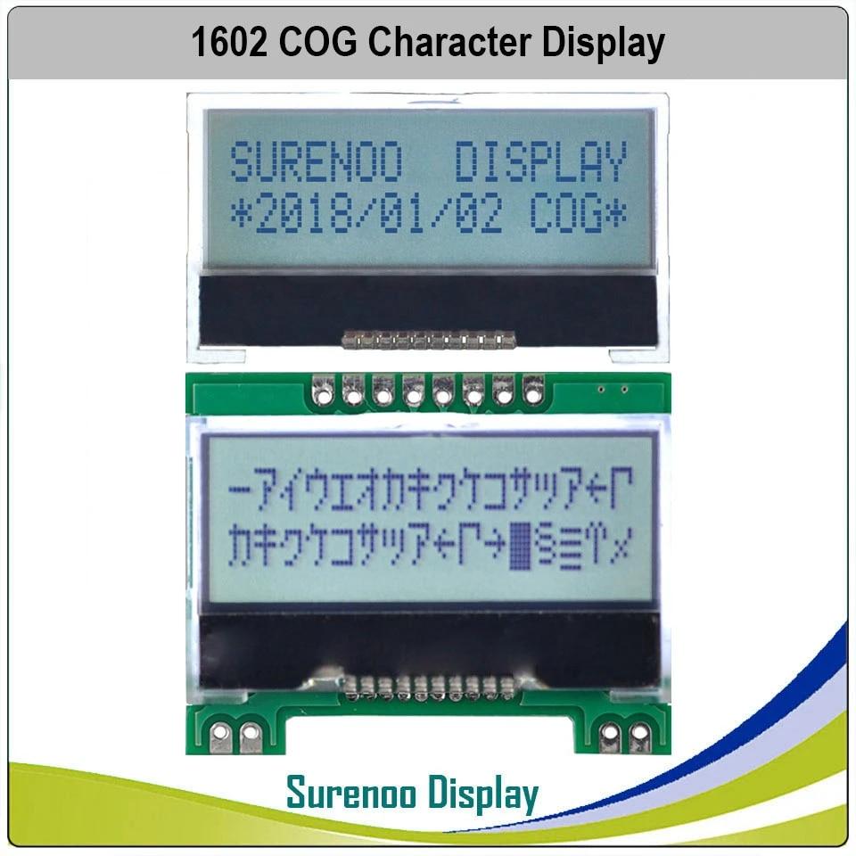 LCD Display STN Reflective 2x16 Characters ST7066U Parallel 16 Pins  1 Stück