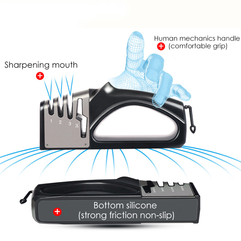 4 ступени точилка для ножей Кухонные ножи шлифовальная машина алмазный керамический камень профессиональная точилка Инструменты для ножни...