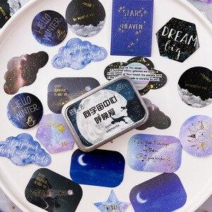 Image 5 - 20 takım/grup Kawaii kırtasiye çıkartmaları yıldız serisi sıcak damgalama dekoratif cep çıkartmalar Scrapbooking DIY el sanatları Sticker