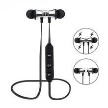 Manyetik kablosuz Bluetooth kulak içi kulaklık spor kulaklık kulaklık Iphone Xiaomi Huawei için
