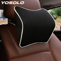 Yosolo universal memória espuma tecido pescoço encosto de cabeça almofada do assento carro travesseiro acessórios interiores