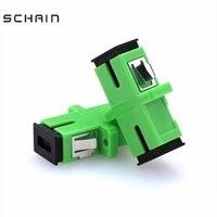 Adaptador sm singlemode sc apc  conector de fibra ótica de sc  acoplador flange simplex e acoplador ftth