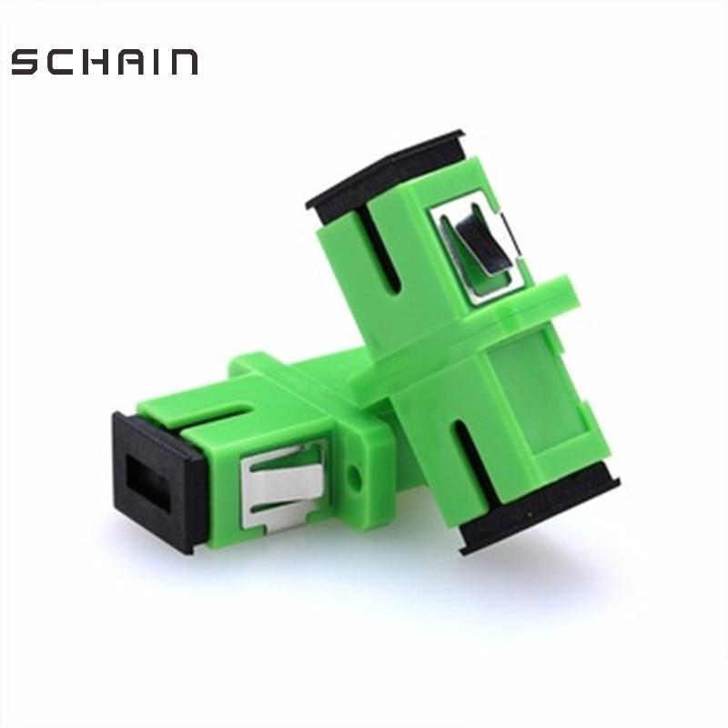 SC APC Adapter SM Singlemode SC Optical Fiber Connector  Optical Flange Coupler Simplex And Coupler Ftth Fiber Optic SC Adapter