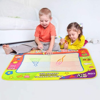 80x60cm Water Drawing Mat & 2 Magic Pens Doodle Mat Baby Play Mat Drawing Board in Painting Toys Early Educational Toys for Kids 80x60cm water drawing mat