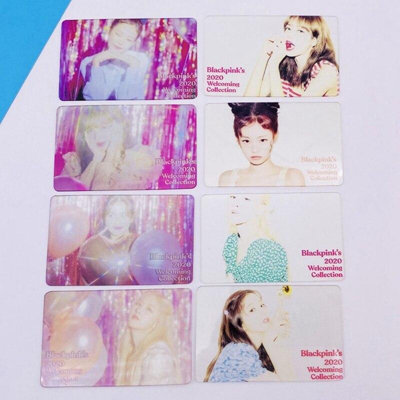 Korean KPOP BLACKPINK Girls 2020 New Album Photo Card PVC Cards Self Made LOMO Card Photocard
