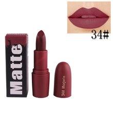 Nouveau MISS ROSE rouge à lèvres mat imperméable velours 18 couleurs Sexy rouge brun Pigments maquillage lèvres tiques beauté cadeaux pour les femmes TSLM1