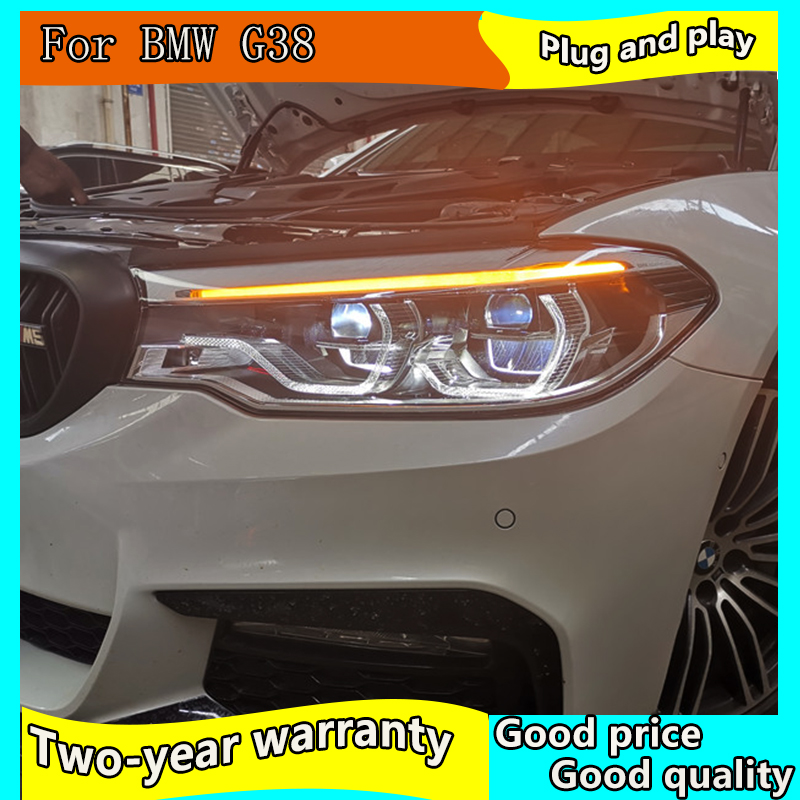 Voiture style lampe frontale pour BMW G38 phares 2018-2019 520i 523i phare LED DRL Signal lampe Hid Bi xénon Auto accessoires