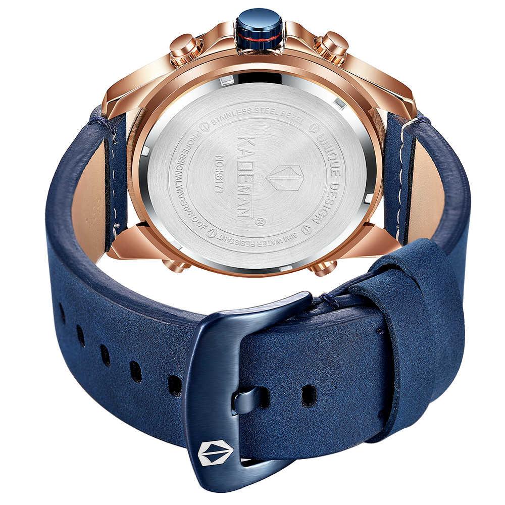 Reloj deportivo KADEMAN, reloj militar, reloj de pulsera Digital para hombres, reloj para hombre de lujo impermeable, reloj para hombre